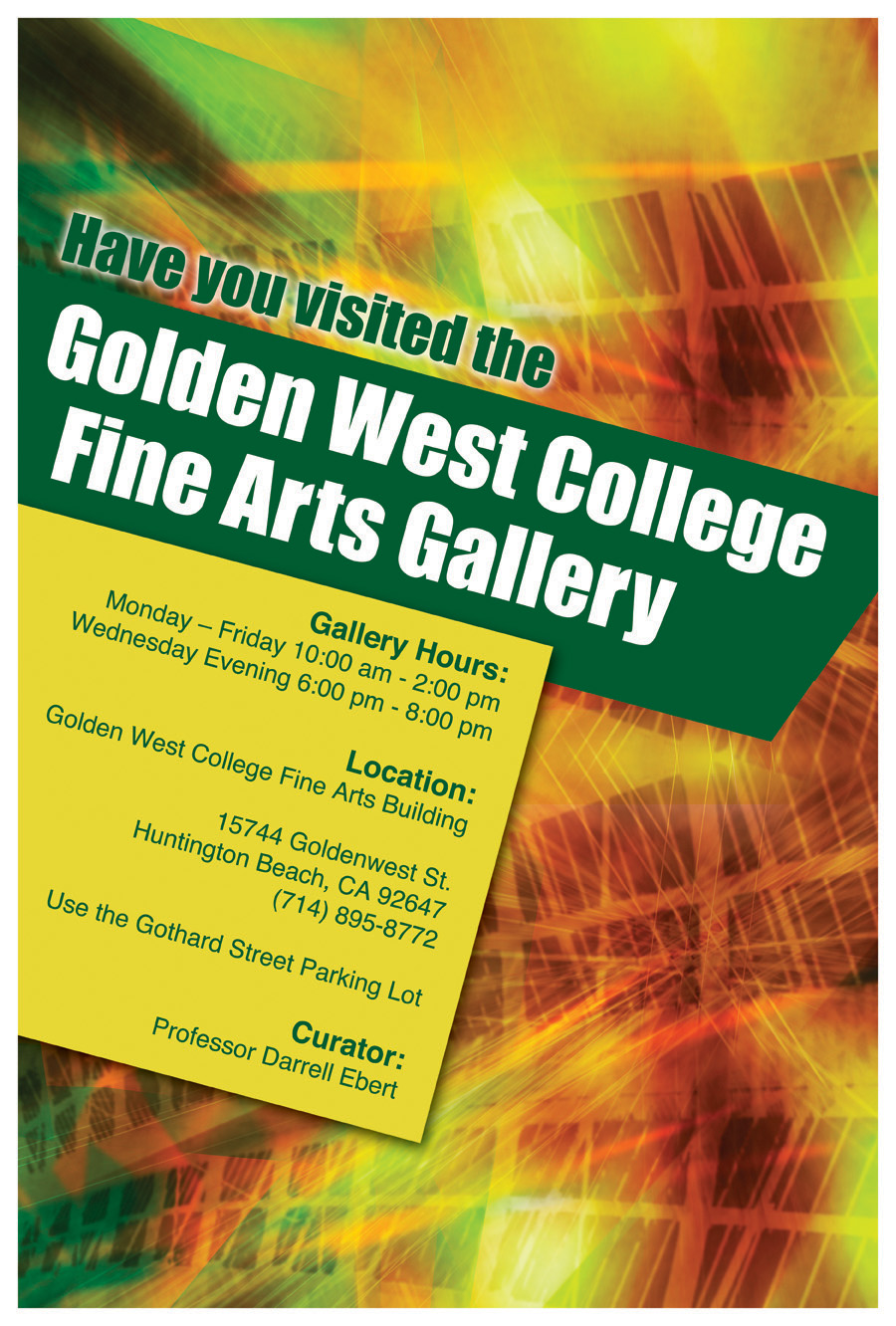 gwc fine arts gallery poster